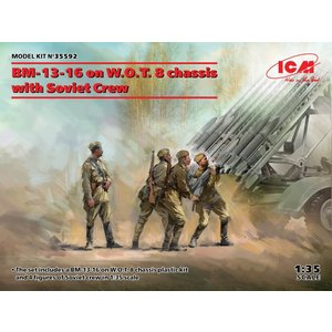 Icm . ICM 1/35 BM-13-16 on W.O.T. 8 chassis with Soviet Crew