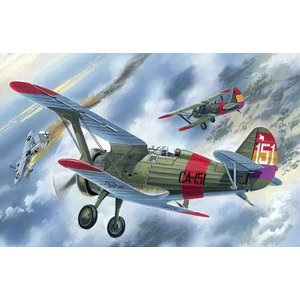 "Icm . ICM 1/72 I-15 ""Chato"" Spanish Air Force Biplane Fighter"