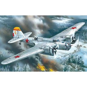 Icm . ICM 1/72 SB 2M-100A WWII Soviet Bomber