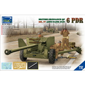 Riich Models . RII 1/35 Ordnance QF 6-Pdr. Mk.IV Late War Infantry Anti-tank Gun