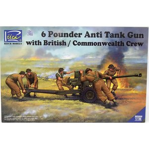 Riich Models . RII 1/35 6 Pounder Infantry Anti-tank Gun w/British Commonwealth Crew