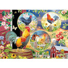 Cobble Hill . CBH Rooster Magic 1000pc Puzzle