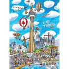 Cobble Hill . CBH Doodle Town - Toronto 1000pc Puzzle