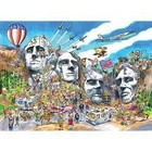 Cobble Hill . CBH Doodle Town : Mount Rushmore 1000pc Puzzle