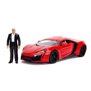 "Jada Toys . JAD 1/18 ""Fast & Furious"" Lykan Hypersport w/Light & Dom Figure"