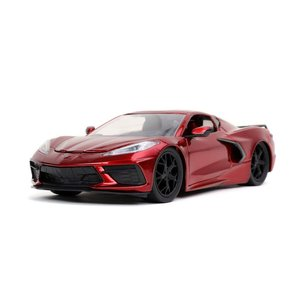 """Jada Toys . JAD 1/24 """"BIGTIME Muscle"""" 2020 Corvette Stingray - Candy Red"""