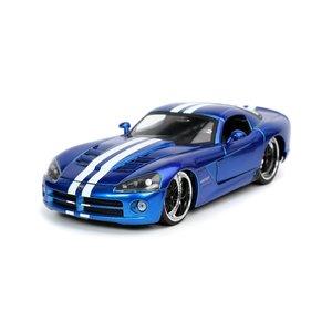 """Jada Toys . JAD 1/24 """"BIGTIME Muscle"""" 2008 Dodge Viper SRT10 - Blue"""