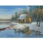 Cobble Hill . CBH Winter Cabin 275pc Puzzle