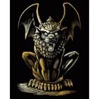 Royal (art supplies) . ROY Lion Gargoyle - Gold Foil Art Nature Fantasy Calgary