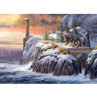Outset Media . OUT Winter Lighthouse 1000pc Puzzle