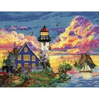 "Design Works . DWK Counted Cross Stitch Kit 11""X14"" Lighthouse Nature Art Calgary"