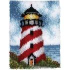 """Caron . CAR Latch Hook Kit 15""""X20"""" - Sailors Beacon Nature Lighthouse Calgary"""