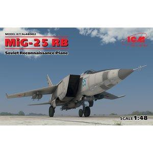 Icm . ICM 1/48 Mig-25 RB Soviet Reconnaissance Plane