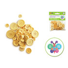 MultiCraft . MCI Craft Buttons 40/pk Natural