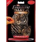 Royal (art supplies) . ROY Mini Engraving Art Scraper Foil Tiger And Cub Animals Calgary