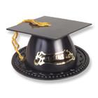 Linnea's . LIN Black Grad Hats Cake Topper