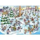 Cobble Hill . CBH Doodle Town: Hockey Town - Puzzle 1000pc Calgary
