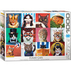 Eurographics Puzzles . EGP Funny Cats Puzzle Eurographics 1000pc Animals Calgary