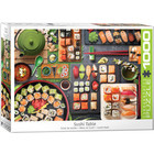 Eurographics Puzzles . EGP Sushi Table Eurographics 1000pc Jigsaw Puzzle Food Calgary