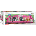 Eurographics Puzzles . EGP Kitty Cay Couch Panoramic Puzzle Animals Calgary