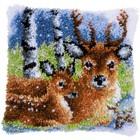 "Vervaco . VVC Cushion Latch Hook Kit 16""X16"" Deer Nature Art Animals Calgary"