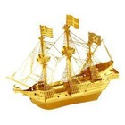 Fascinations . FTN Metal Earth - Gold Golden Hind - 2 sheets