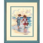 Dimensions . DMS Holding Hands - Cross Stitch Nature Summer Children Friends Calgary