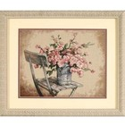 Dimensions . DMS Roses On White Chair - Cross Stitch Art Flowers Nature Calgary