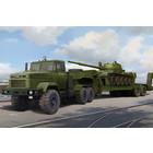 Hobby Boss . HOS 1/35 Ukraine Kraz 6446 Tractor w/MAZ/ChMZAP 5247G Semi Trailer and 7-62 Mod 1960 Tank