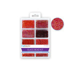 MultiCraft . MCI Glass Bead Kit: Rocailles/Seed Beads/Bugles 45g ULTIMIX H) Rouge