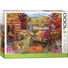 Eurographics Puzzles . EGP Autumn Garden - 1000pc Puzzle