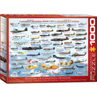 Eurographics Puzzles . EGP History of Canadian Aviation - 1000pc Puzzle
