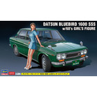 Hasegawa . HSG 1/24 Datsun Bluebird 1600 SSS W/60'S Girl Figure