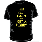 PM Hobbycraft's Own . PMO Keep Calm and Get a Hobby T-Shirt (X-Large)