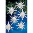 Beadery . BDR Holiday Beaded Ornament KitSnow Clusters