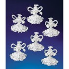 Beadery . BDR Holiday Beaded Ornament Kit Crystal Angels
