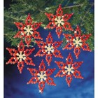 Beadery . BDR Holiday Beaded Ornament Kit Poinsettias