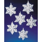 Beadery . BDR Holiday Beaded Ornament Kit Snow Crystals
