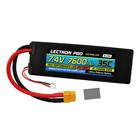 Common Sense R/C . CSR Lectron Pro 7.4V 7600mAh 35C Lipo Battery with XT60 Connector
