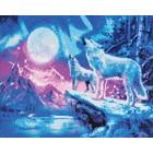 Craft Buddy . CBD Wolves and Northern Lights - Crystal Art Kit (Large)