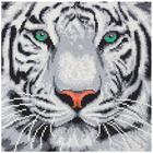 Craft Buddy . CBD White Tiger - Crystal Art Kit (Medium)