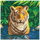Craft Buddy . CBD Tiger Pool - Crystal Art Kit (Medium)