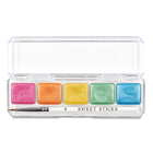 Edible Art Paint . EAP Edible Art Paint - Mini Metallic Palette - Rainbow