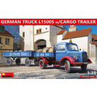 Miniart . MNA 1/35 German Truck L1500S with Cargo Trailer