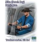 Masterbox Models . MTB 1/24 Mike Barrington Trucker Sitting wearing Cowboy Hat & Denim Jacket