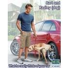 Masterbox Models . MTB 1/24 Bart & Radley the Dog w/Leg-Up