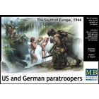 Masterbox Models . MTB 1/35 WATCHING THE GIRLS, US & GERMAN PARATROOPERS SOUTH OF EUROPE 1944