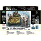 Masterbox Models . MTB 1/35 The 101st Light Company US Paratroopers & British Tankman France 1944
