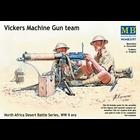 Masterbox Models . MTB 1/35 WWII Vickers Machine Gun Team (4) w/Gun