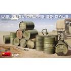 Miniart . MNA 1/35 U.S. Fuel Drums (55 Gals.)